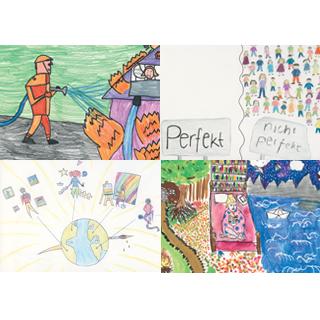 Postkarten 10 Impulse Motive Kinderzeichnungen