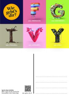 "Postkarte: Kampagne ""Wie geht's dir?"""